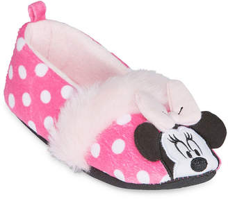 Disney Girls Minnie Mouse Slip-On Slippers