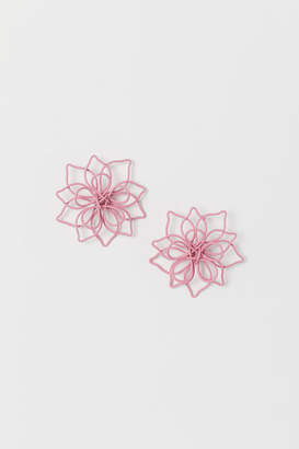H&M Flower-shaped earrings - Pink