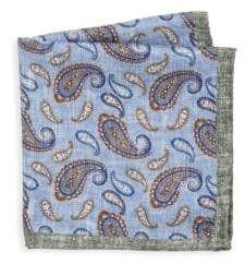 Saks Fifth Avenue COLLECTION Paisley-Print Silk Pocket Square