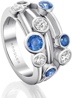 Boodles Classic Raindance Platinum Sapphire Ring