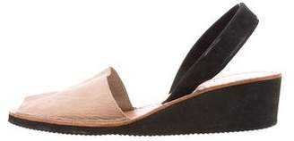 Zero Maria Cornejo Suede Slingback Sandals