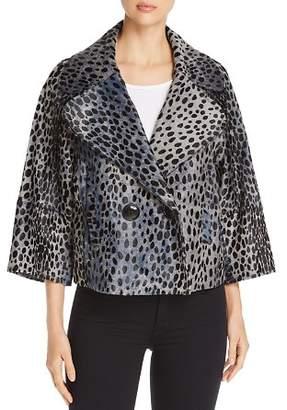 Elie Tahari Edna Cheetah-Print Calf Hair Jacket