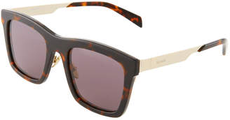 Balmain Square Acetate/Metal Sunglasses