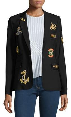 Veronica Beard Classic Patch Jacket, Black
