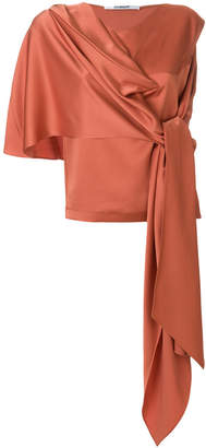 Chalayan draped belted top