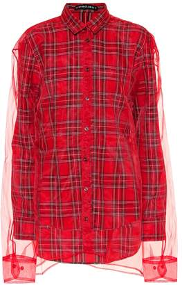 Y/Project Layered plaid shirt