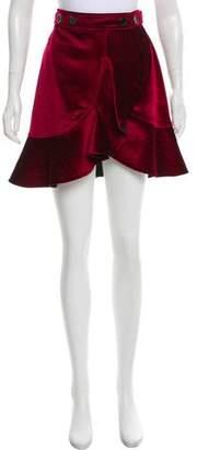 Self-Portrait Velvet Asymmetrical Skirt w/ Tags