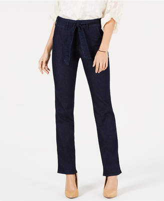 NYDJ Tummy-Control Belted Marilyn Trouser Jeans