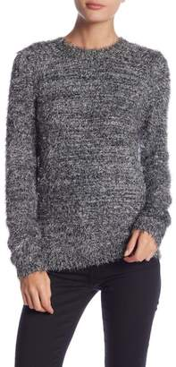 Romeo & Juliet Couture Long Sleeve Fuzzy Knit Sweater