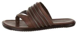 Rick Owens Leather Thong Sandals