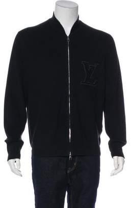 Louis Vuitton Terry Appliqué Initiales Zip Sweater