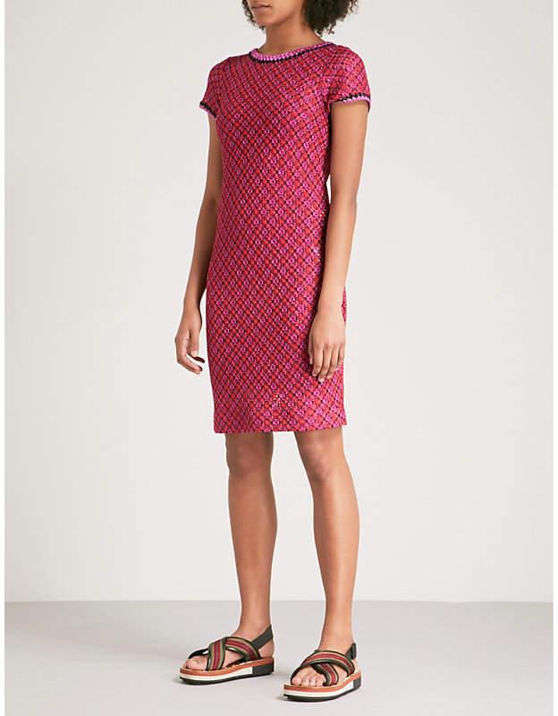 Metallic woven dress