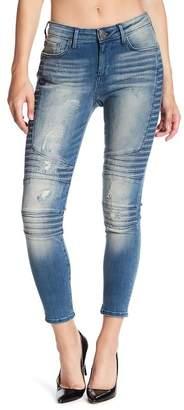 True Religion Halle Skinny Moto Jeans