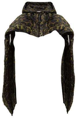 Preen by Thornton Bregazzi Fern Leopard Print Padded Cotton Blend Scarf - Womens - Leopard