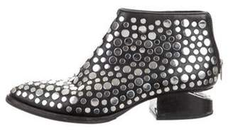 Alexander Wang Embellished Leather Ankle Boots Black Embellished Leather Ankle Boots