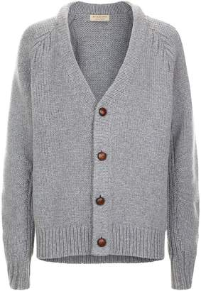 Burberry Knitted V-Neck Cardigan