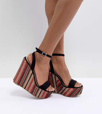 Asos Design Tropics High Sandal Wedges