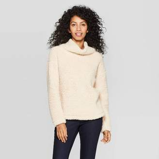 A New Day Women's Any Day Long Sleeve Turtleneck Sherpa Pullover