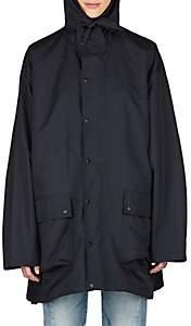 Balenciaga Women's Tech-Fabric Oversized Raincoat-Black