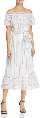 Aqua Metallic Rainbow-Stripe Midi Dress - 100% Exclusive