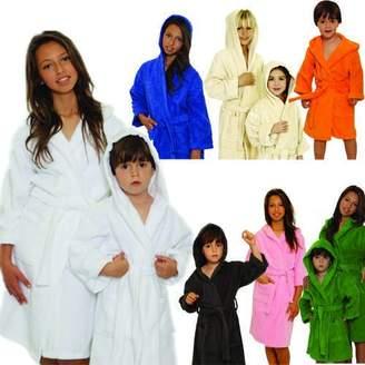 Mirko Kids Terry Hooded Bathrobe Terry Cloth Hoodie Bathrobe%100 Cotton for Kids(,L (Age 7-11))