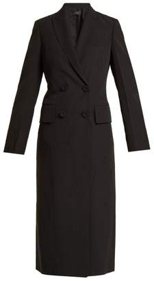 Joseph Best Double Breasted Creased Crepe Coat - Womens - Black