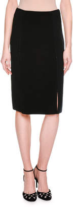 Giorgio Armani Ottoman Knit Slim Pencil Skirt, Black