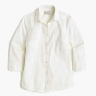 J.Crew Petite three-quarter-sleeve stretch perfect shirt