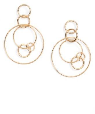 Women's Halogen Multi Hoop Drop Earrings $39 thestylecure.com