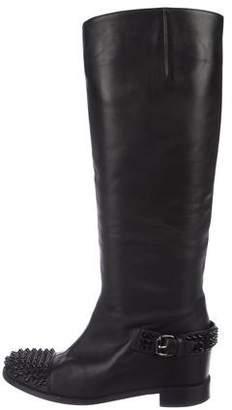 Christian Louboutin Spike Knee-High Boots