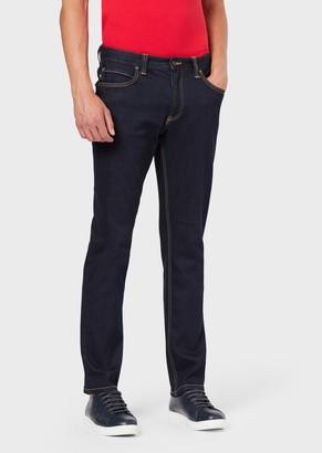 Emporio Armani J15 Regular Fit Stretch Cotton Denim Jeans