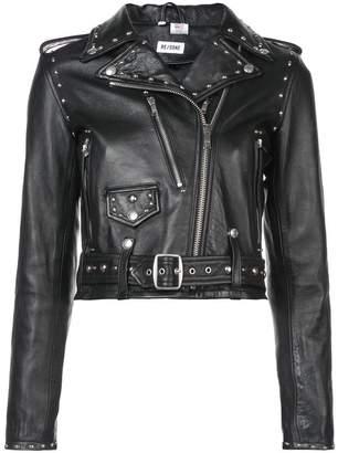 RE/DONE zipped biker jacket
