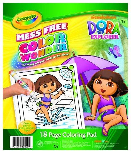 Crayola Color Wonder Dora Coloring Pad Refill Book