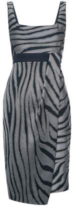 Kimora Lee Simmons zebra print dress