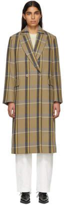 Stella McCartney Tan Check Oversized Coat