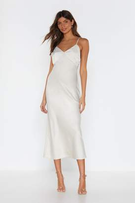 Nasty Gal Go With the Low Satin Midi Dress