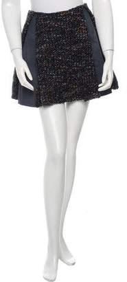 Thakoon Leather Knit-Paneled Skirt w/ Tags