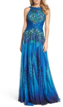 Women's Tadashi Shoji Print Chiffon Gown $648 thestylecure.com