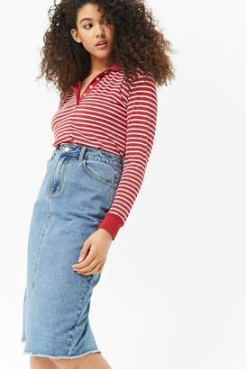 Forever 21 Frayed Denim Skirt