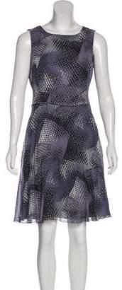 Armani Collezioni Printed Knee-Length Dress