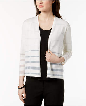 Alfani Shadow-Striped Cardigan, Created for Macy's