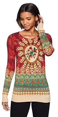 Desigual Women's La Vie in Rose Pullover Sweater