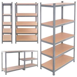 Gymax 71'' Heavy Duty Storage Shelf Steel Metal Garage Rack 5 Level Adjustable Shelves