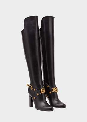 Versace Knee-High Tribute Heeled Boots