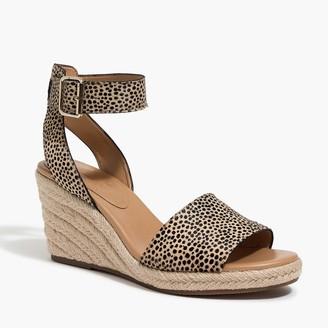 8499c636f5205 J.Crew Calf hair espadrille wedge sandals