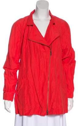 Eileen Fisher Plissé Zip-Up Jacket