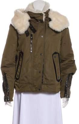 Belstaff Fur-Trimmed Down Coat