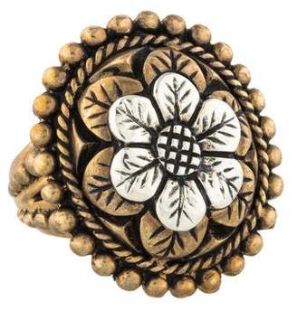 Stephen Dweck Two-Tone Flower Cocktail Ring
