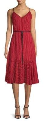 Milly Polka Dot Silk A-Line Camisole Dress