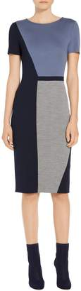 St. John Geometric Color Block Dress